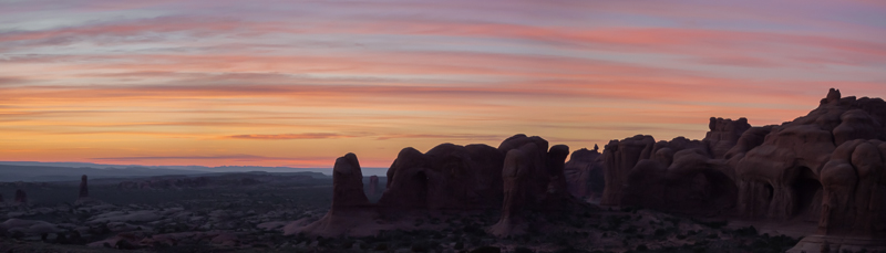 Sunset sky, Arches National Park Utah