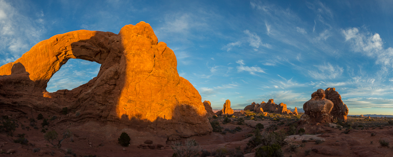 Sunset, Windows in Arches National Park