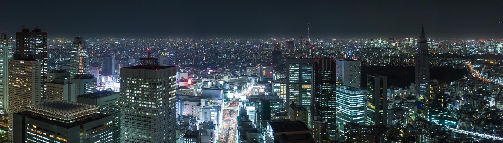 Panorama from Park Hyatt Tokyo