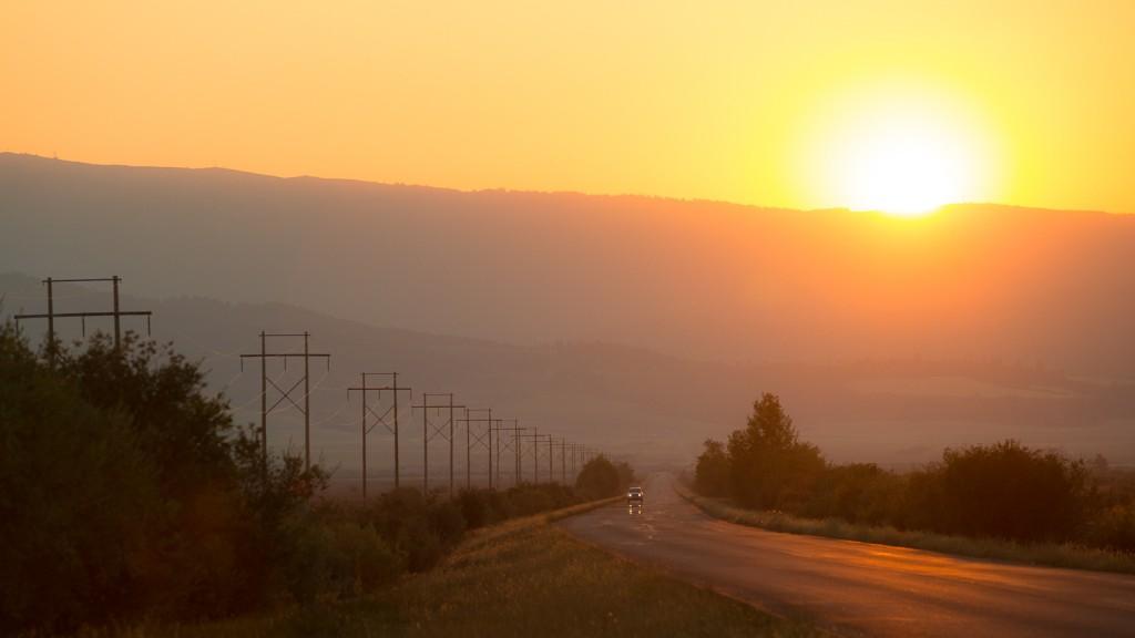 Driggs Idaho sunset