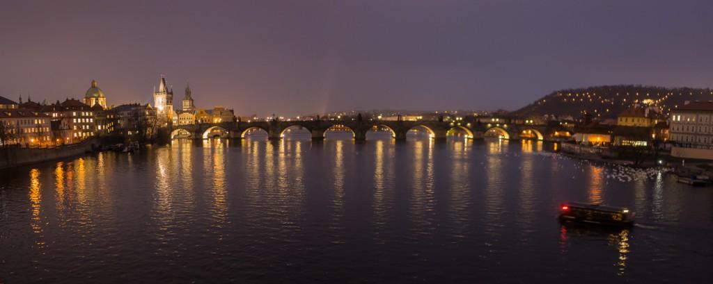 Charles Bridge at night, Prague