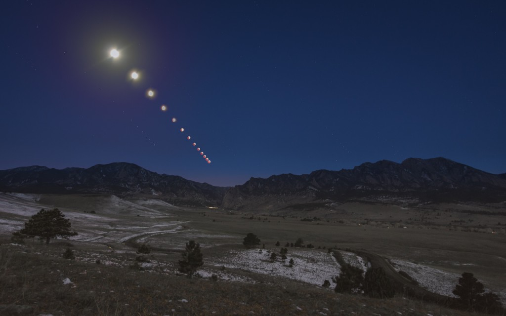 Lunar eclipse Boulder Colorado