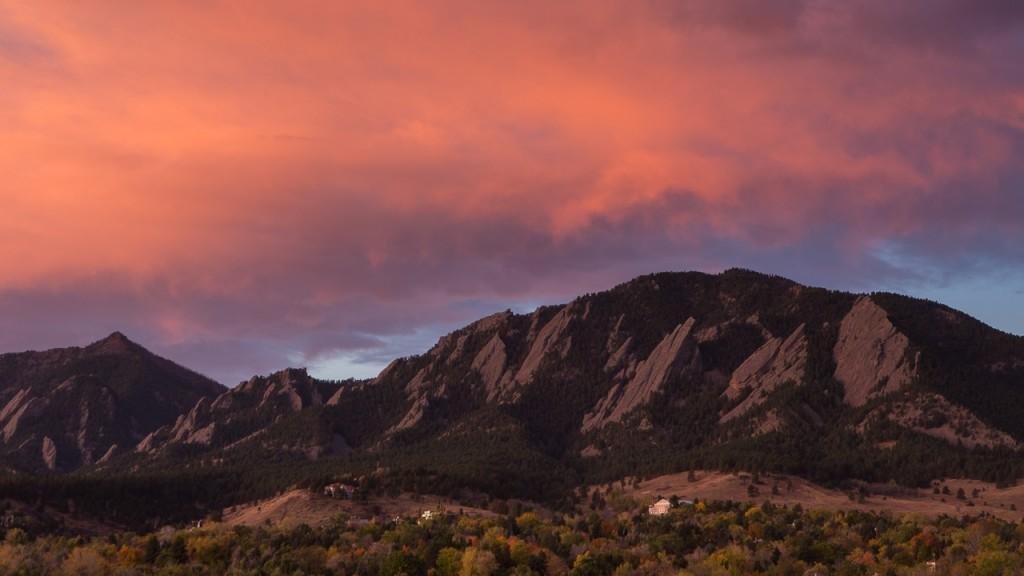 Sunrise, Boulder Colorado