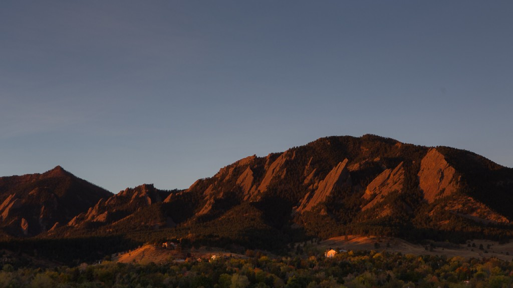 Sunrise from the University of Colorado, Boulder