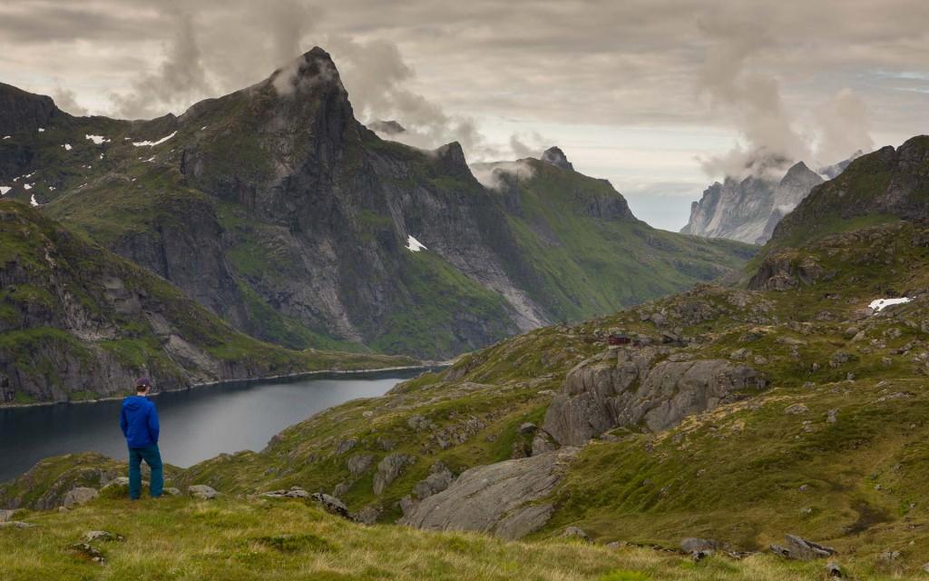 Hiking toward Munken, in the Lofotens