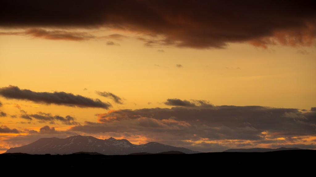 Midnight sunset, Iceland