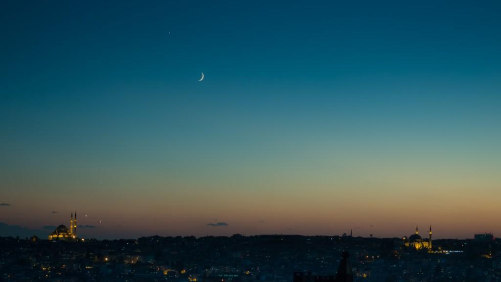 Pre-dawn skyline