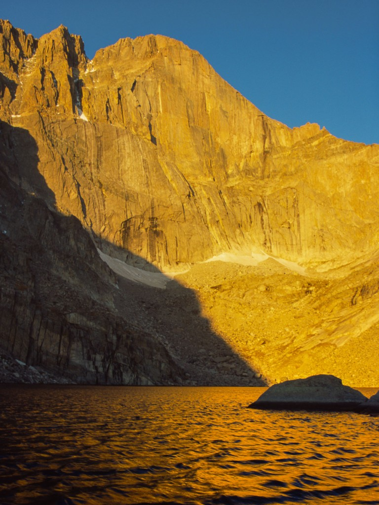 Chasm Lake, sunrise, Rocky Mountain National Park