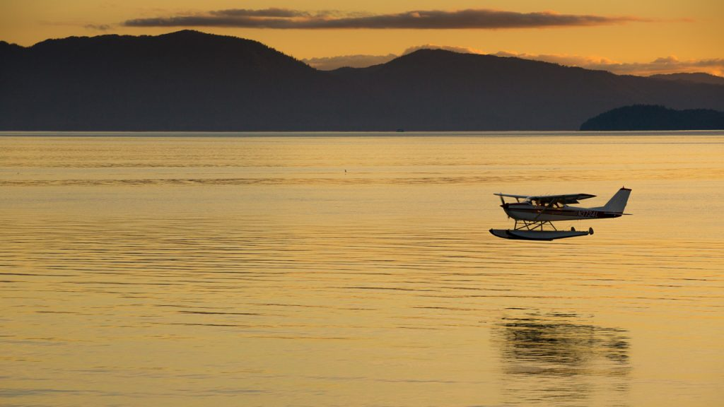 Sunset, Wrangell island, Alaska
