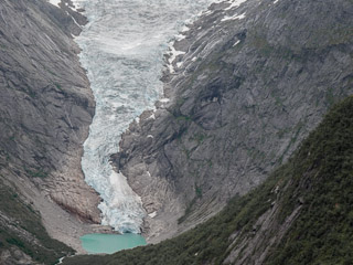 Briksdalbreen glacial tongue